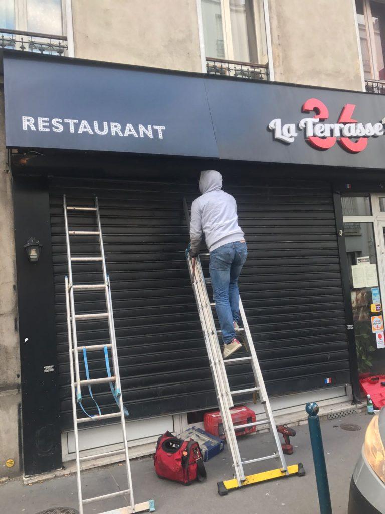 Réparation rideau métallique Paris 18 75018
