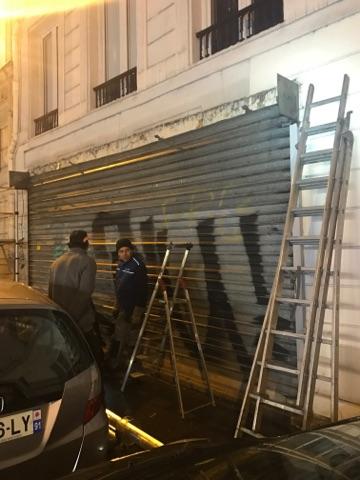 Réparation rideau métallique bloqué